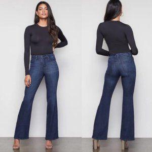 Good American Good Flare Blue 025 Jeans Sz 14/32